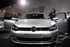Volkswagen registrou aumento de 16,3 por cento nas vendas, chegando a 501.300 veículos vendidos. 04/09/2012 REUTERS/Fabrizio Bensch