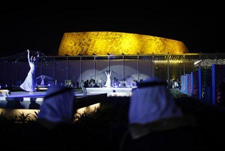 Dancers perform during the inauguration ceremony of the Bahrain National Theatre in Manama November 12, 2012. The 1001-seat theatre, one of the biggest in the Arab world, is expected to host major international and regional events promoting arts and culture in the area. REUTERS/Ahmed Jadallah