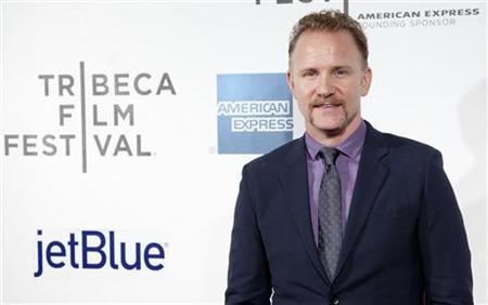 Director, writer and producer Morgan Spurlock arrives for the world premiere of ''Mansome'' as part of the Tribeca Film Festival in New York April 21, 2012. REUTERS/Andrew Kelly