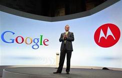 Google Chairman Eric Schmidt speaks at a Motorola phone launch event in New York, September 5, 2012. REUTERS/Brendan McDermid