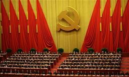 Заключительное заседание в рамках 18-го Съезда Коммунистической партии Китая в Пекине 14 ноября 2012 года. Делегаты конгресса Коммунистической партии Китая выбрали Си Цзиньпина и Ли Кэцяна преемниками председателя КНР Ху Цзиньтао и премьера Госсовета Вэнь Цзябао в рамках процесса передачи власти, проходящего раз в 10 лет. REUTERS/Jason Lee