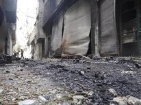 Distruzione a Damasco. REUTERS/Bassam Al-Erbeeni/Shaam News Network/Handout