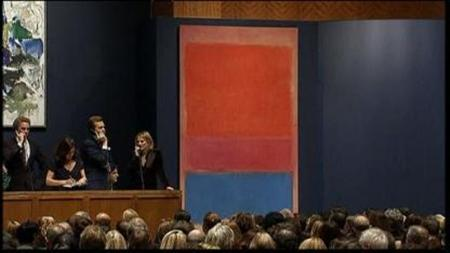 Video screenshot of Sotheby's auction room in New York City, on November 13, 2012. REUTERS/VIDEO