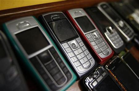 Nokia mobile phones are pictured inside a mobile phone repair service store in the western Austrian city of Innsbruck October 16, 2012. REUTERS/ Dominic Ebenbichler/Files