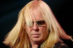 Rick Wakeman, keyboarder of the British rock group Yes performs at the Montreux Jazz Festival July 14, 2003. REUTERS/ARC-Jean-Bernard Sieber