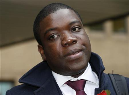 Former UBS trader Kweku Adoboli arrives at Southwark Crown Court in London November 13, 2012. REUTERS/Olivia Harris