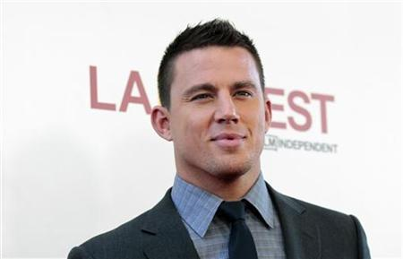 Cast member Channing Tatum poses at the premiere of ''Magic Mike'' during the closing night of the Los Angeles Film Festival at the Regal Cinemas in Los Angeles, California June 24, 2012. REUTERS/Mario Anzuoni/Files