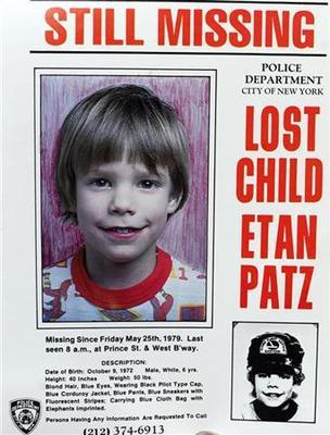 New Jersey man indicted for murder in Etan Patz case
