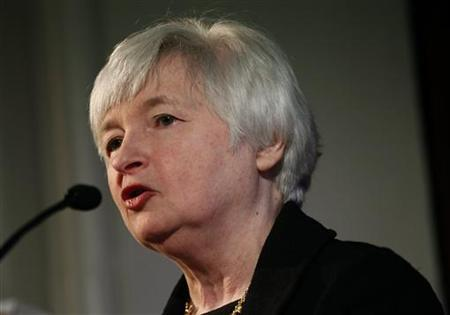 Janet Yellen, vice chair of the Board of Governors of the U.S. Federal Reserve System, speaks at the University of California Berkeley Haas School of Business in Berkeley, California November 13, 2012. REUTERS/Robert Galbraith