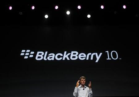 Research In Motion CEO Thorsten Heins gestures while delivering his keynote address during the Blackberry Jam Americas in San Jose, California September 25, 2012. REUTERS/Robert Galbraith
