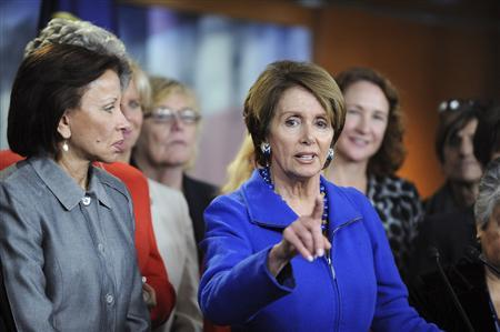 House Democratic leader Nancy Pelosi (D-CA) speaks during a news conference on Capitol Hill in Washington November 14, 2012. Pelosi told fellow Democrats in the U.S. House of Representatives on Wednesday that she is willing to run to be their leader again. REUTERS/Mary F. Calvert