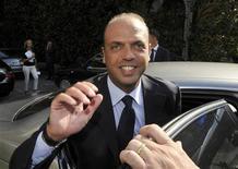 Il segretario del Pdl, Angelino Alfano. REUTERS/Paolo Bona