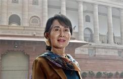 Aung San Suu Kyi, leader della Lega nazionale per la democrazia. REUTERS/B Mathur