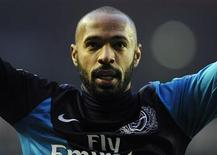 Arsenal's Thierry Henry reacts after their English Premier League soccer match against Sunderland in Sunderland, northern England February 11, 2012. REUTERS/Nigel Roddis