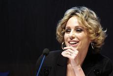 Il presidente Mondadori, Marina Berlusconi. Segrate (Milano), 21 aprile 2011. REUTERS/Paolo Bona