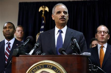U.S. Attorney General Eric Holder speaks at a news conference in New Orleans November 15, 2012. REUTERS/Jonathan Bachman