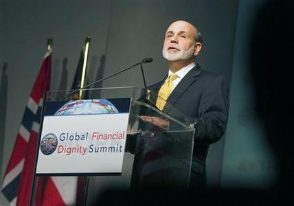 Federal Reserve Chairman Ben Bernanke speaks during the HOPE Global Financial Dignity Summit in Atlanta, Georgia, November 15, 2012. REUTERS/Tami Chappell