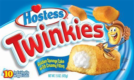 A box of Hostess Twinkies is pictured in this undated handout photo obtained by Reuters November 14, 2012. REUTERS/INTERSTATE BAKERIES CORPORATION/Handout