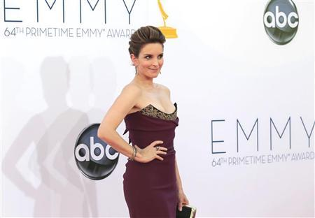 Actress Tina Fey of the comedy series ''30 Rock'' arrives at the 64th Primetime Emmy Awards in Los Angeles September 23, 2012. REUTERS/Mario Anzuoni
