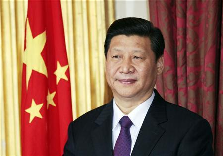 Xi Jinping stands during a trade agreement ceremony between the China and Ireland at Dublin Castle in Dublin, in this February 19, 2012 file photograph. REUTERS/David Moir/Files