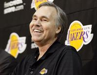 New Los Angeles Lakers head coach Mike D'Antoni smiles during a media conference after practice at the Lakers' training facility in El Segundo, California November 15, 2012. REUTERS/Danny Moloshok