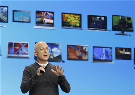 Steven Sinofsky, the President of the Windows and Windows Live Division at Microsoft, speaks at the launch event of Windows 8 operating system in New York, October 25, 2012. REUTERS/Lucas Jackson
