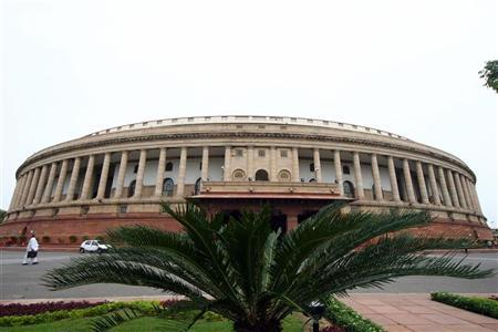 A view of the Indian parliament building is seen in New Delhi July 21, 2008. REUTERS/B Mathur/Files
