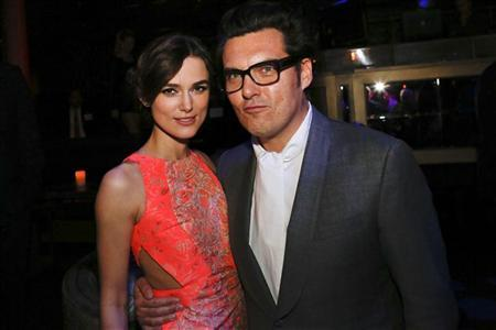 Keira Knightley and Director Joe Wright attend the after party for the premiere of the movie ''Anna Karenina'' at the Greystone Manor Supper Club in Los Angeles, California November 14, 2012. REUTERS/Patrick T. Fallon