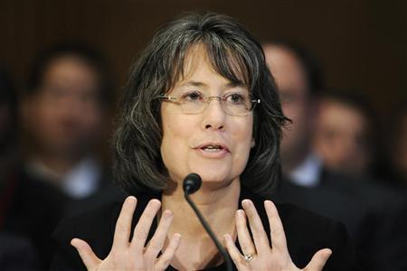 Sheila Bair testifies before the Senate Banking Committee hearing on oversight of Dodd-Frank Wall Street reform and consumer protection implementation, on Capitol Hill in Washington May 12, 2011. REUTERS/Jonathan Ernst