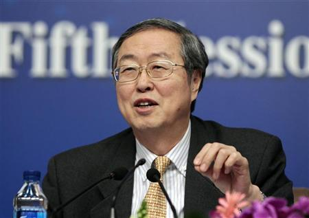 China's Central Bank Governor Zhou Xiaochuan answers a question at a news conference during the ongoing National People's Congress (NPC), China's parliament, in Beijing March 12, 2012. REUTERS/Jason Lee
