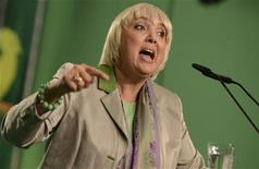 German Green Party co-leader Claudia Roth delivers her speech at the party convention of the Green Party in Hanover, November 17, 2012. REUTERS/Fabian Bimmer