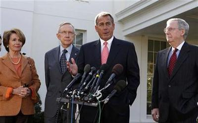 "U.S. leaders ""not near finish line"" on fiscal cliff talks: White House"