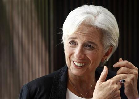 International Monetary Fund Managing Director Christine Lagarde gestures during a Reuters interview at a hotel in Manila's Makati financial district November 17, 2012. REUTERS/Cheryl Ravelo