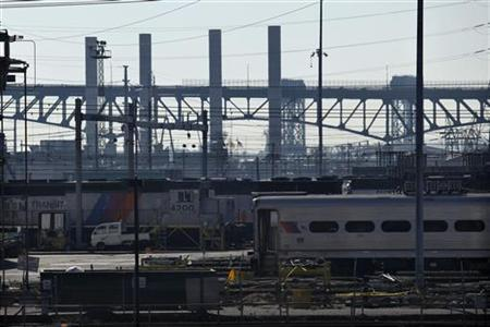 Trains are seen at New Jersey Transit's Meadows Maintenance Complex in Harrison New Jersey November 17, 2012. REUTERS/Eduardo Munoz