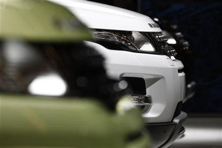 The new Range Rover Evoque is seen at the Jaguar-Land Rover exhibition booth during the International Motor Show (IAA) in Frankfurt, September 14, 2011. REUTERS/Alex Domanski/Files