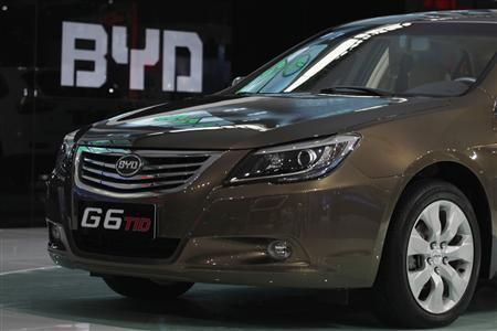 A BYD G6 TID is displayed at the 9th China (Guangzhou) International Automobile Exhibition in Guangzhou in this November 21, 2011 file photo. REUTERS/Tyrone Siu/Files