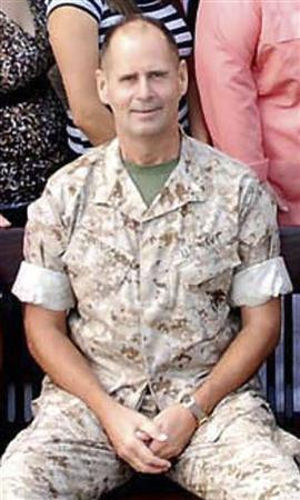 In this undated file photo released to Reuters on May 12, 2009, by the U.S. Navy, licensed clinical social worker Cmdr. Charles Keith Springle, assigned to the 55th Medical Company, is pictured at the Community Counseling Center in Camp Lejune, North Carolina. REUTERS/U.S. Marine Corps photo/Handout/Files
