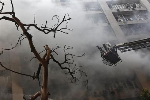Fire in central Delhi building