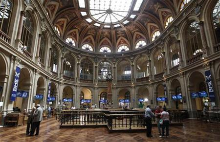 A general view shows the stock exchange in Madrid June 15, 2012. REUTERS/Andrea Comas/Files