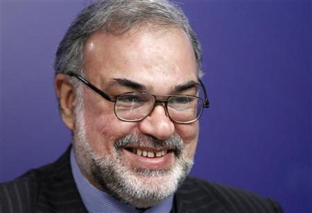 Iran's Ambassador to Russia Seyed Mahmoud-Reza Sajjadi listens during a news conference in Moscow November 19, 2012. REUTERS/Maxim Shemetov