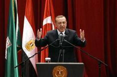 "Primeiro-ministro turco Tayyip Erdogan classificou Israel como ""Estado terrorista"". 17/11/2012 REUTERS/Asmaa Waguih"