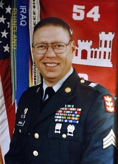Sgt. John M. Russell, the Army sergeant accused of killing five fellow soldiers in Iraq, is seen in a military photo provided by his father, Wilburn Russell, 73, outside of his son's home in Sherman, Texas May 12, 2009. REUTERS/Russell Family/Handout