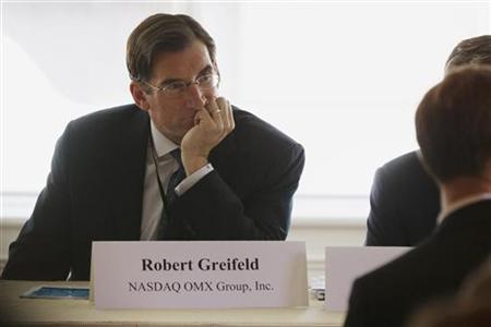 Nasdaq chief executive officer Robert Greifeld listens to a question at the Sandler O'Neill + Partners, L.P. global exchange and brokerage conference in New York June 7, 2012. REUTERS/Lucas Jackson/Files