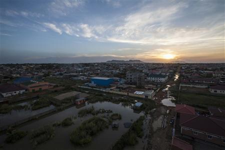 The city of Juba is seen at sunset, in this October 4, 2012 file photograph. REUTERS/Adriane Ohanesian/Files