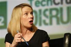 Las acciones de Yahoo alcanzaron su nivel más alto en un año y medio, en momentos en que crece la confianza de los inversores en que la nueva consejera delegada, Marissa Mayer, pueda lograr un resurgimiento que no consiguieron tres de sus predecesores. En la imagen, Mayer durante una conferencia en San Francisco, California, el 12 de septiembre de 2012. REUTERS/Stephen Lam