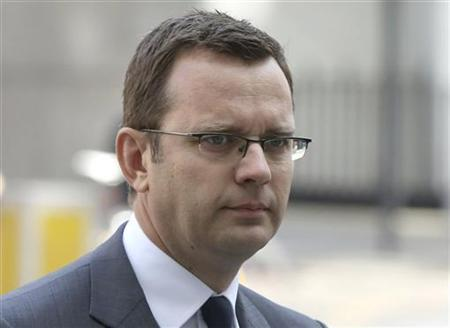 Former News of the World editor Andy Coulson is seen arriving to hear charges of phone hacking at Westminster Magistrates Court in London August 16, 2012. REUTERS/Neil Hall/Files