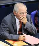 German Finance Minister Wolfgang Schaeuble attends a session of the lower house of parliament Bundestag in Berlin November 9, 2012. REUTERS/Tobias Schwarz (GERMANY - Tags: POLITICS)