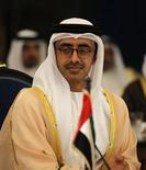 United Arab Emirates' (UAE) Foreign Minister Sheikh Abdullah bin Zayed al-Nahayan attends the Gulf Cooperation Council (GCC) Foreign Ministers' Meeting in Manama November 7, 2012. REUTERS/HAMAD I MOHAMMED