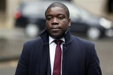 Former UBS trader Kweko Adoboli arrives at Southwark Crown Court in London, November 20, 2012. The jury in the London trial of former UBS trader Kweku Adoboli, who is blamed for a loss of $2.3 billion, continues to consider its verdicts. REUTERS/Stefan Wermuth