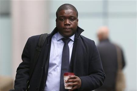 Former UBS trader Kweko Adoboli arrives at Southwark Crown Court in London, November 19, 2012. REUTERS/Stefan Wermuth